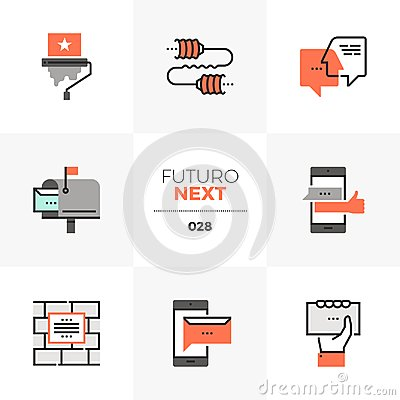 Free Buzz Marketing Futuro Next Icons Stock Images - 122002344