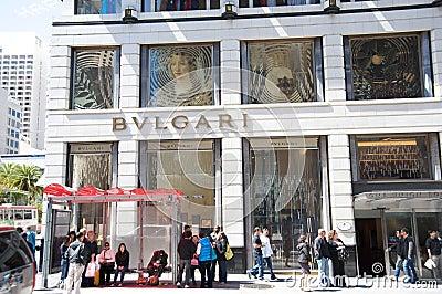 Bvlgari store Editorial Photo
