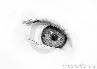 BW beautiful eye