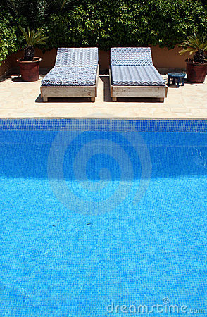 Free By The Pool Stock Image - 802741