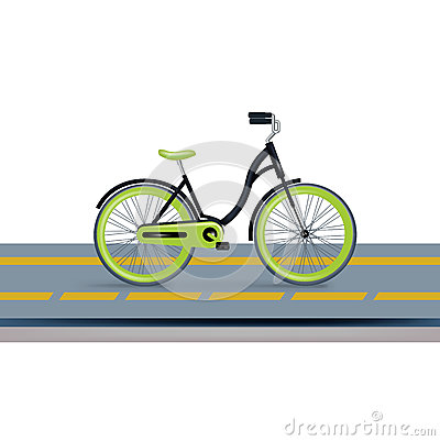 Free Bycicle And Bycicle Lane Isolated Royalty Free Stock Image - 33167036