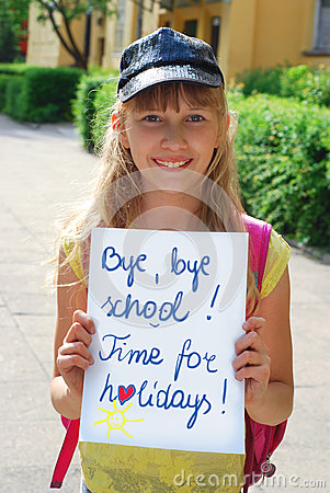 Bye,bye school.Time for holidays.