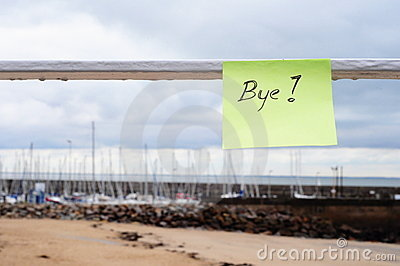 Bye message on the port