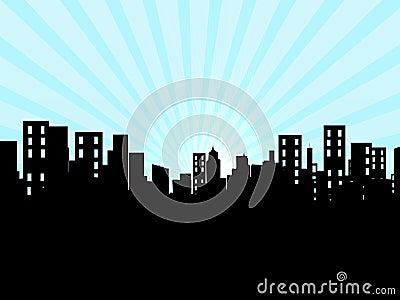 Byggnader stad, cityscape