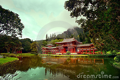 Byodo-in temple. Hawaii, Oahu