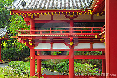 Byodo In temple section