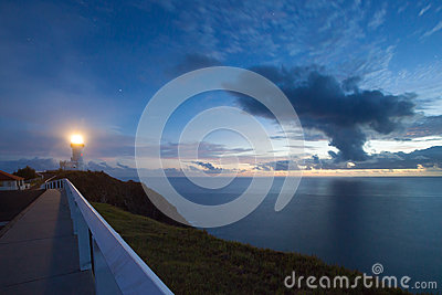 Byrong Bay lighthouse at sunrise