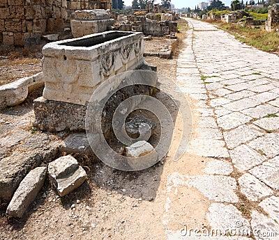 Byzantine Road, Tyre, Lebanon