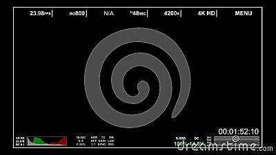Cámara épica roja en las capas de la pantalla de visualización almacen de video