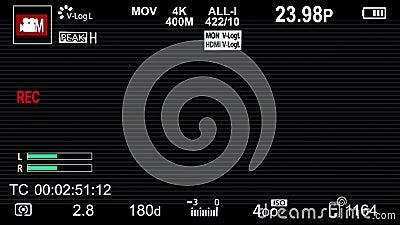 C?mara de Panasonic en las capas de la pantalla de visualizaci?n con scanlines libre illustration