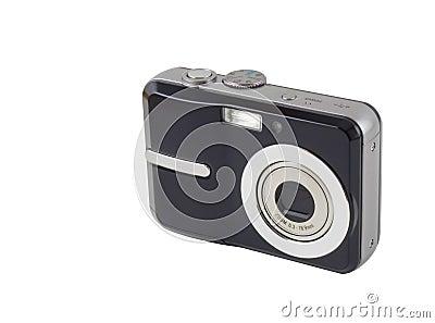 Câmera compacta de Digitas isolada com trajeto de grampeamento