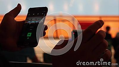 Câmera de funcionamento da ação vídeos de arquivo