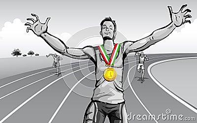 Célébration de la victoire