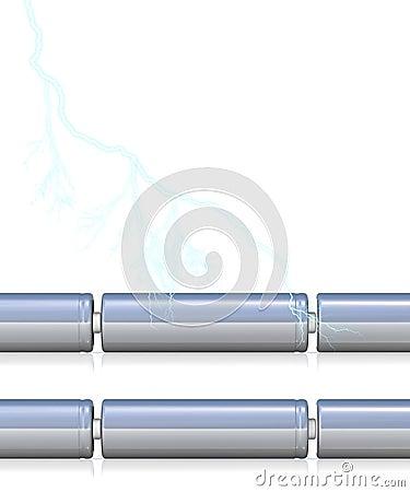 Células de bateria com e sem