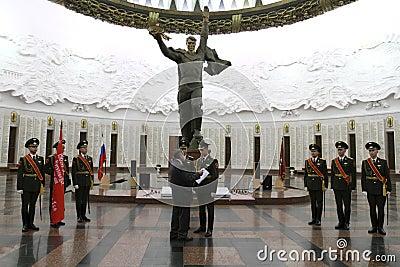 Cérémonie du transfert du drapeau de victoire Image stock éditorial