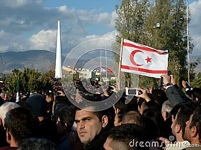 Cérémonie funèbre de Rauf Denktas Photo stock éditorial