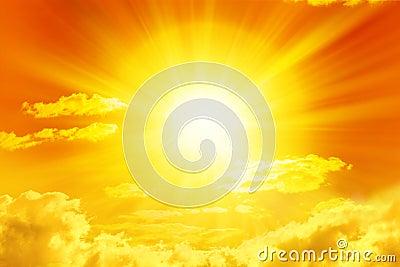 Céu dourado de Sun