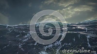 Céu e ondas do oceano Storm