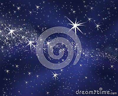 Céu estrelado do fundo