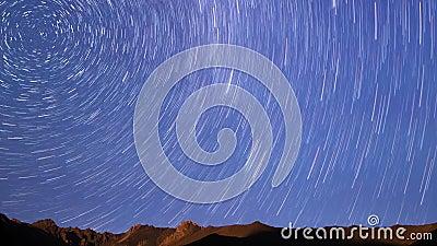 Céu estrelado linha Lapso de tempo