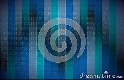 Código binario azul marino