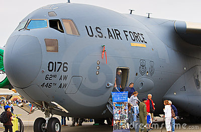 "C-17 ""Globemaster III"", Lewis-McChord Air Expo Editorial Stock Image"