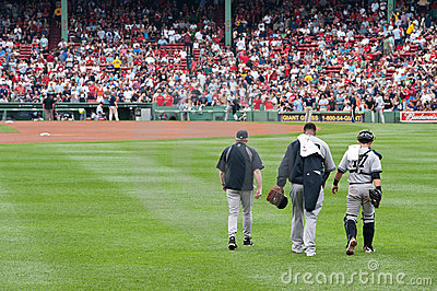 C.C. Sabathia and Francicso Cervelli Editorial Stock Photo