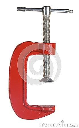C clamp on white
