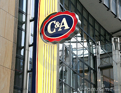C&A Clements and August store logo Editorial Stock Photo