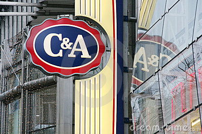 C&A Clements and August store logo Editorial Stock Image