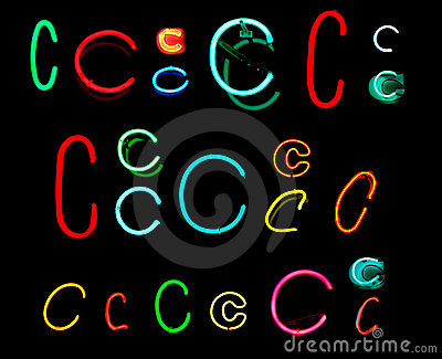C Neon Letters