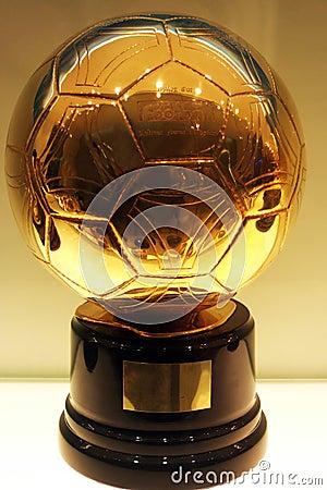 C. Ronaldo Golden Football Editorial Image
