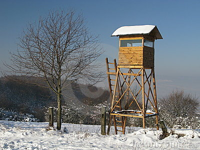 Caçando a torre da caça imóvel