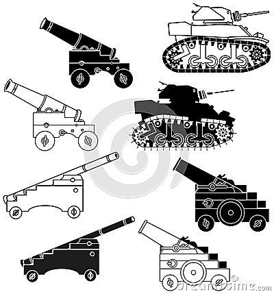 Cañones y los tanques