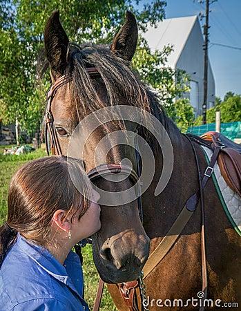 Całuje mój konia