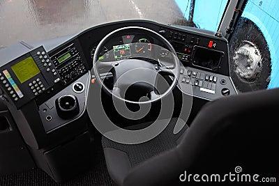 In cab of Dublin bus Editorial Image