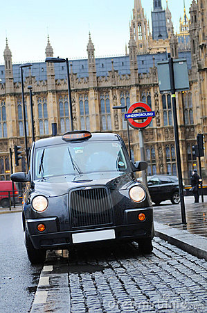 Cab london Redaktionell Arkivfoto