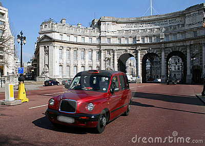 Cab/taxi in London