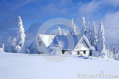 Cabaña en invierno