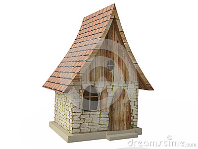 Cabaña mágica stock de ilustración   imagen: 58307129