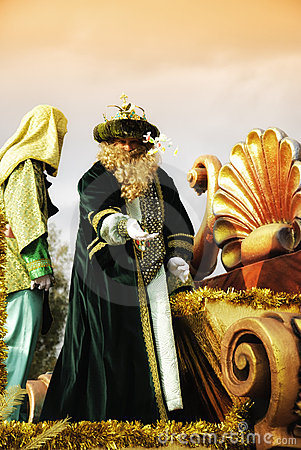 The Cabalgata los Reyes Magos Editorial Stock Image