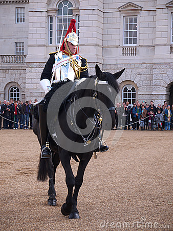 Caballería del hogar en el desfile de los protectores de caballo Imagen editorial