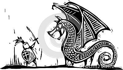 Caballero y dragón