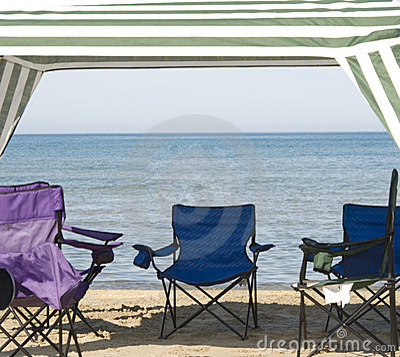 Cabana and chairs