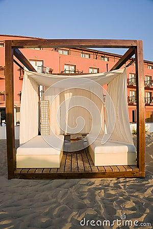 Cabana da massagem na praia