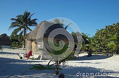 Cabana da praia de Tulum