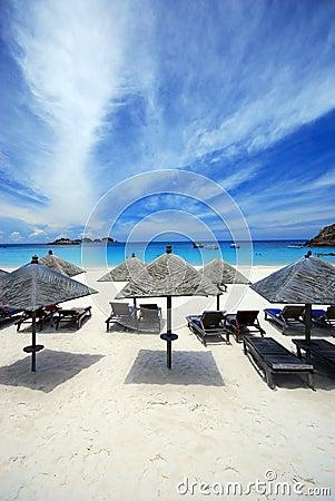 Cabanas by the beach