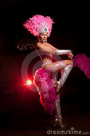 Free Cabaret Dancer Stock Image - 17327631