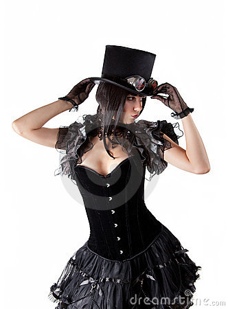 Cabaret girl in top hat