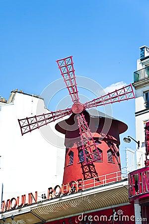 Cabaret Moulin Rouge in Paris Editorial Image